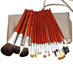 18pcs Professional Cosmetic Makeup Brush Set with Dark