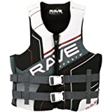 Rave Adult Dual Neo Life Vest (X-Large/XX-Large, White/Gray/Black), X-Large/XX-Large/White/Gray/Black