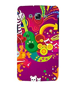 printtech Music Abstract design Back Case Cover for Samsung Galaxy A3 / Samsung Galaxy A3 A300F