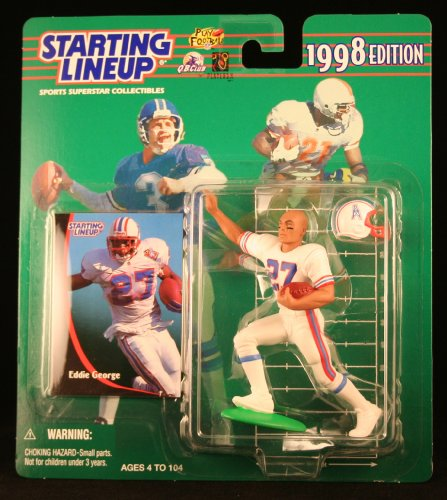 EDDIE GEORGE / HOUSTON OILERS 1998 NFL Starting Lineup Action Figure & Exclusive NFL Collector Trading Card