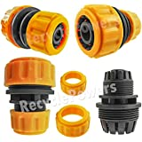 """1/2"""" To 3/4"""" Garden Water Hose Extension Joint Repair Joint Joiner Connector Adapter Coupler"""