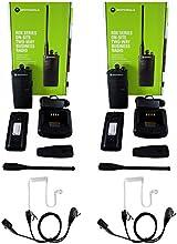 QTY 2 Motorola RDU4100 UHF 4 watt 10 channel radio and Surveillance Headset