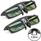 GMYLE 144 Hz Aktive 3D Shutterbrille mit DLP-Link Beamer (Größe S, 2 Brillen)