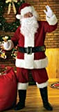 Rubie s Costume Co Deluxe Velvet Santa Suit With Wig And Beard, Red White, X-Large