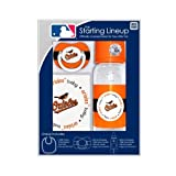 MLB Baltimore Orioles Baby Three Piece Gift Set Feeding Bib Bottle Pacifier