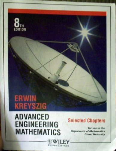 Advanced Engineering Mathematics: Selected Chapters, 8th Edition