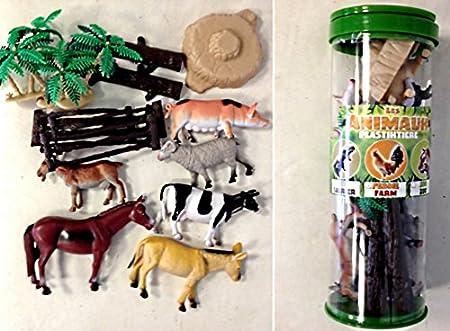 Set Animaux de la ferme 16 pièces cheval vache jouet