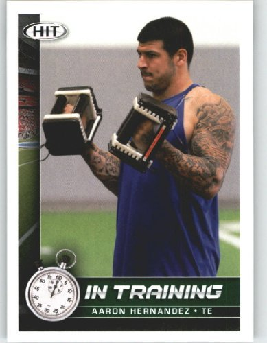 Aaron Hernandez????????????- In Training (Rookie Year Card) 2010 Sage HIT Football Card Shipped in Protective Screwdown Case