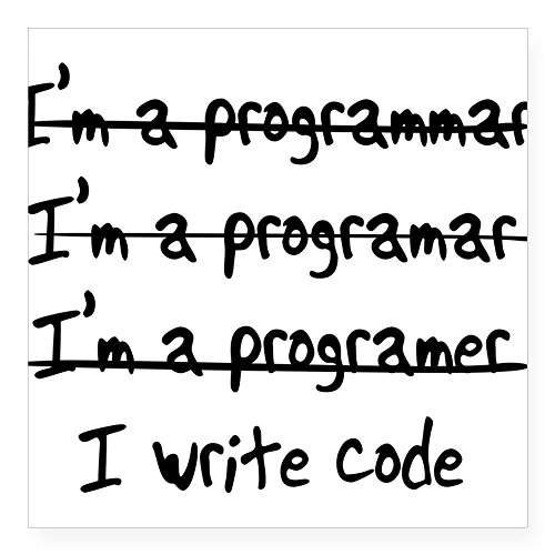 CafePress - I'm A Programmer Sticker - Square Bumper Sticker Car Decal, 3
