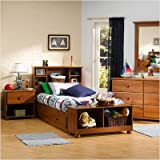 Sand Castle Mates Twin Bedroom Set in Sunny Pine