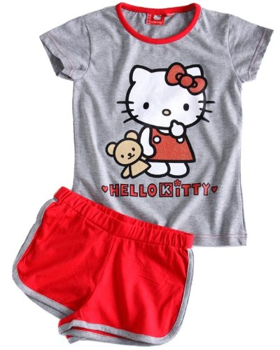 Hello Kitty Shorty-Set, grey