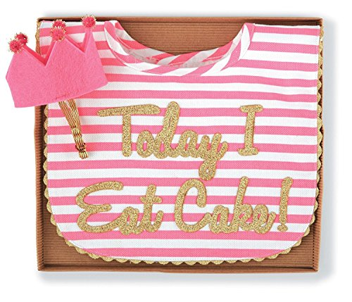 Mud Pie Baby-Girls Newborn Cake Smashing Set-Bib and Crown Headband, Multi, One Size