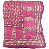 Monil Double Bed Traditional Desgin Jaipuri Hand Block Print Jaipuri Razai - Quilt