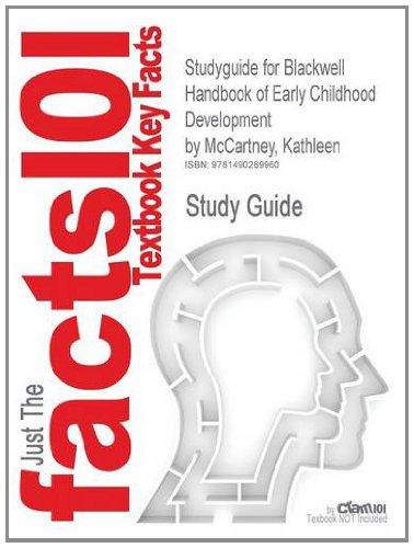 Blackwell Handbook Of Early Childhood Development front-1008388