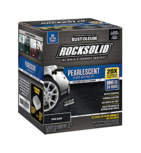 Rust-Oleum 306325 Rock-Solid Pearlescent Garage Floor Coating Kit, Pearl Black (Color: Pearl Black, Tamaño: 1 Pack)