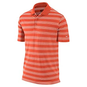 Nike Golf Men's Tech Core Stripe Polo-Medium-Electro Orange