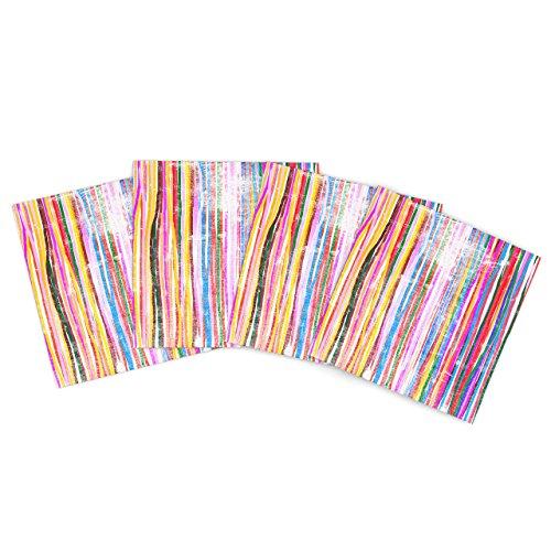 Kess InHouse Frederic Levy-Hadida Fancy Stripes Pastel Outdoor Place Mat, 15 by 15-Inch, Set of 4 kess v2 v4 036 master version no token limit kess v2 4 036 manager tuning kit ecu programming tool kess v4 036