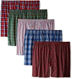 Hanes Mens Classics 5-Pack Tartan Boxer - Colors May Vary
