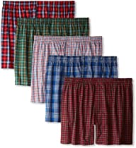 Hanes Men's 5 Pack Ultimate Tartan Bo…