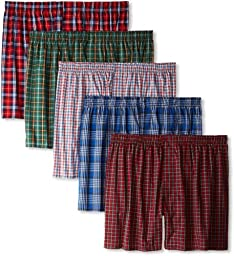 Hanes Men\'s 5 Pack Ultimate Tartan Boxers - Colors May Vary,Large