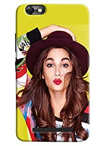 Omnam Alia Bhatt Giving Pout Printed Designer Back Cover Case For Lenovo Vibe C (A2020)