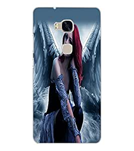 HUAWEI HONOR 5X ANGEL GIRL Back Cover by PRINTSWAG