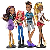 MONSTER HIGH A PACK OF TROUBLE 4 DOLL SET