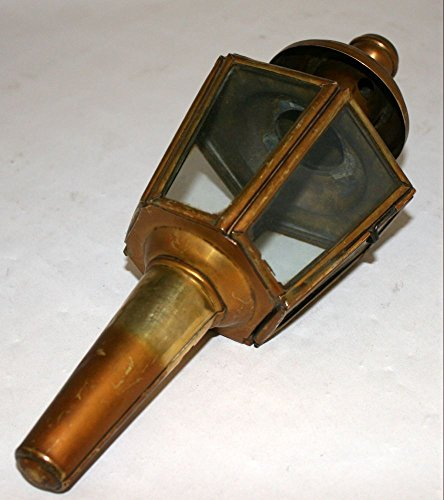Antique Carriage Car Automobile oil paraffin lamp 11in brass lantern