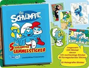 Panini Die Schlümpfe Sammelsticker Box mit 50 Tüten