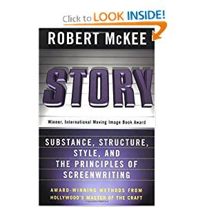 Writer's Resources: Cover of Robert McKee's Story: Substance, Structure, Style and The Principles of Screenwriting