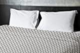 Ebydesign Geometric Duvet Cover, Queen, Latte Spring Navy Bisque
