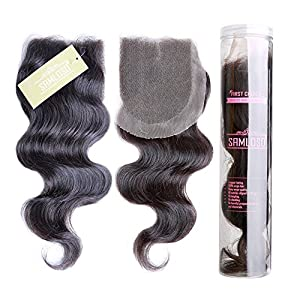 Body Wave Lace Closure 4*4 Virgin Human Hair Easy Styling and Flawless Look By Samloso® Hair(16)