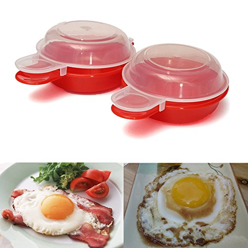 Home Kitchen 2 Pcs Microwave Egg Omelet Bowl Maker Omelette Cooker Cookware Cooks Fast Minutes (Db Egg Cooker compare prices)