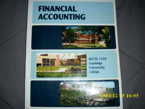 ACCT 1310 Financial Accounting (Cuyahoga Community College)