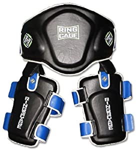 Muay Thai Pro Belly & Thigh Pad Combo for Muay Thai, MMA, Kickboxing by Ring to Cage