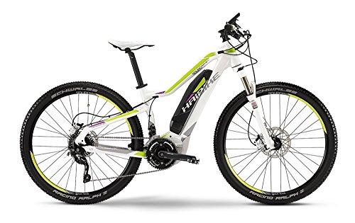 Haibike SDURO HardLife RC E-Bike Elektofahrrad 20-G SLX 11Ah 400Wh E-Mountainbike weiß metallic/lime/purple RH 45 Modell 2015