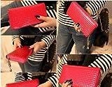 選べる エナメル革 長財布  ウオレット 5色 黒 赤 黄色 青 ピンク チャーム付 かわいい キラキラ オシャレ (赤)