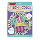 Melissa & Doug Stitch by Color Cute Cupcake Toy