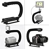 Camera Stabilizer C Shape Rig Handle Bracket Low Position Shooting System for DV Camcorders DC DSLR Cameras Nikon Canon Sony GoPro SJCAM Xiaomi Yi Sony