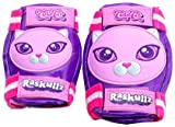 Raskullz Cutie Cat 3D Rubber Molded Kneepads and Elbowpads (Pink, One Size Fits All)