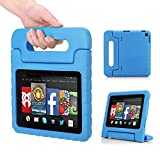 MoKo Amazon Kindle Fire HD 7 2014 Case - Kids Shock Proof Convertible Handle Light Weight Super Protective Stand Cover Case for Amazon Kindle Fire HD 7 Inch 2014 Tablet, BLUE