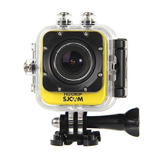 BOOMYOURS Original SJCAM M10 WiFi (SJ4000 WiFi Mini edition) Action Sport Cam Camera Waterproof Full HD 1080p 720p Video Helmetcam(Giallo)