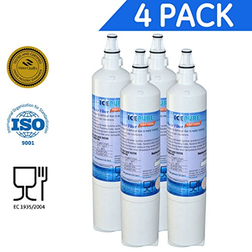 4 Pack - IcePure Water Filter to Replace LG, LG Premium, Kenmore, Kenmoreclear (Lg Refrigerator 5231ja2006b compare prices)