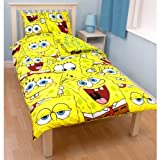 Spongebob Squarepants 'Heads' Reversible Single Rotary Duvet Set
