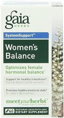 Gaia Herbs Women's Balance Liquid Phyto-Capsules, 60 Count