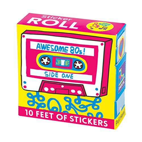 Mudpuppy Awesome 80s! Sticker Roll