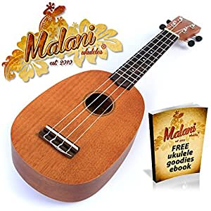 Natural Pineapple Ukulele: 4 String Ukelele
