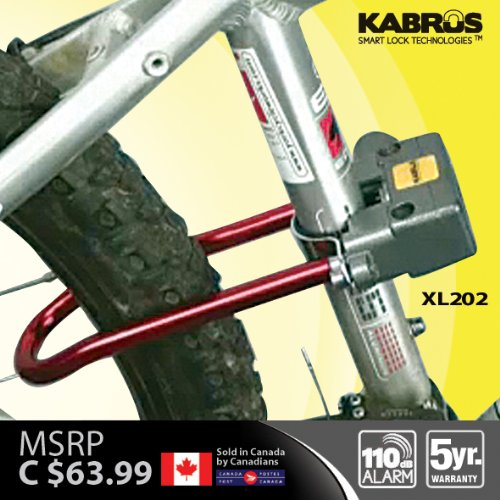 Kabrus Alarm Bicycle Lock / Alarmed Lock for Bicycle Bike Security / Secure Folding Bikes, Road Bicycle, Mountain Bikes, Vintage Bicycle, trek mountain bike, ladies bicycle, folding bike bicycle, bicycle chain / bicycle accessories