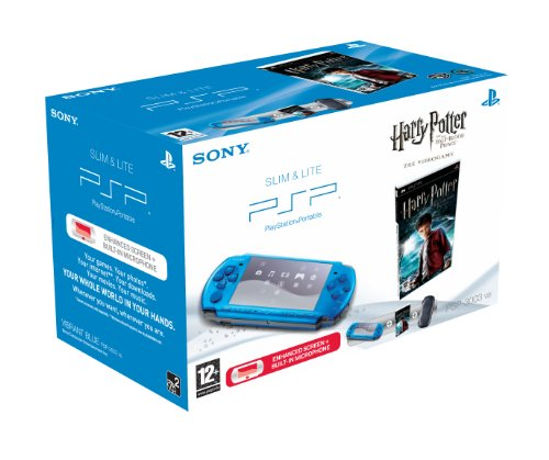 Sony PSP 3003 Console (Blue) with Harry Potter Half Blood Prince Bundle (PSP)