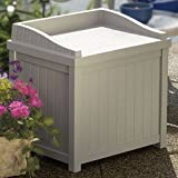 Suncast SS1000 Premium 22 Gallon Deck Box with Seat